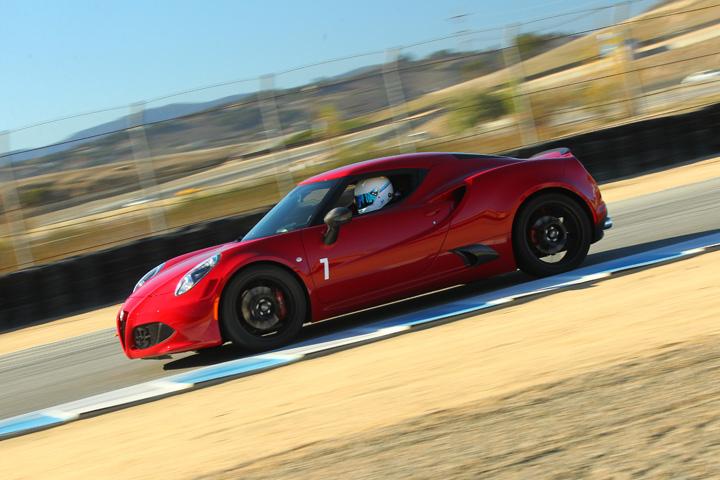 Alfa 4c at the track